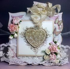 Bryllupskort - Audhild Ljones - Stempelglede :: Design Team Blog My Stamp, Flourish, Decorative Boxes, Scrapbook, Projects, Grunge, Blog, Stamps, Cards