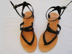 Greek leather sandals by GreeksandalsPenelope Classic Leather, Real Leather, Brown Leather, Red Sandals, Leather Sandals, Roman Sandals, Shoes Too Big, Beautiful Sandals, Designer Sandals