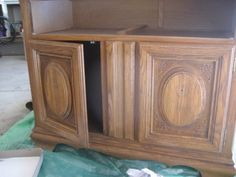 We have all seen furniture that looks like this...tired, outdated and it just doesn't fit in quite right with the rest of your decor. I had this wonderful hutch from my parents that I just couldn't use without making my house look like my...