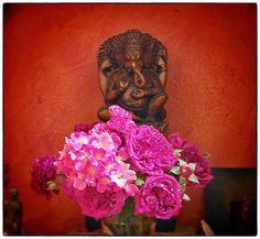 Roses for Ganesha, Elizabeth Frank Studio.