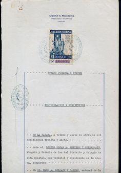Jubilication Notarial stamp on the document (1937)
