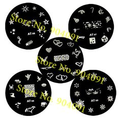20pcs/lot Round Stainless Steel Image Plate Nail Art Stamping Plate Template+Freeship-in Nail Art Templates from Beauty & Health on Aliexpress.com