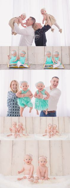 One year old twin sister portraits! #twins #familyportraits #sisterportraits