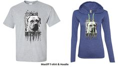 Cotton T-shirts & Hoodie with Mastiff print for Men and Ladies. It's available in different colors with all sizes.