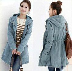 2013 Autumn Fashion Women's New Korean Style Casual Women's Windbreaker 2 Colors | eBay