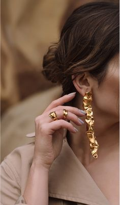 Unique earrings | accessories | creative accessories | casual jewellery | party wear jewellery | rings | golden jewellery