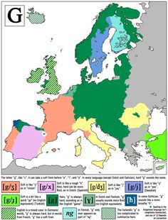 """How to pronounce """"G"""" in different European languages."""