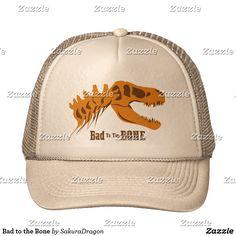 Bad to the Bone Trucker Hat #dinosaurs #jurassic #trex #tyrannosaurus #rex