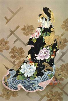 Haruyo Morita Flowers Geisha J. by MGL Licensing Avatar Photo, Japan Painting, Painting Art, Art Paintings, Geisha Art, Art Asiatique, Art Japonais, Japanese Embroidery, Japan Art