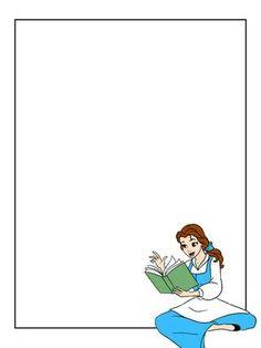 Journal Card - Belle - blue dress - sitting and reading - 3x4 photo dis_486_Belle_bluedress.jpg