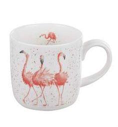 Royal Worcester Wrendale Pink Ladies Flamingo Small Single Mug Bone China Pink Lady, Elephant Mugs, Plain White Background, Wrendale Designs, Design Ideas, Flamingo Party, Flamingo Decor, Flamingo Outfit, Flamingo Gifts