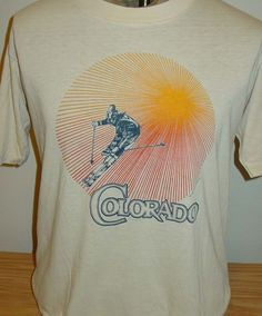 Vintage 1981 Colorado Snow Ski THIN Soft 50 Retro T Shirt By Vintagerhino247 On