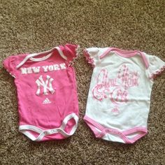 Adidas New York onsies Set of two adidas onsies. Both are 0-3 months an are in excellent condition! Adidas Other