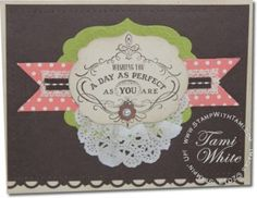Stampin' Up! Sale-a-Bration 2013 Vintage Verses stamp set and video tutorial