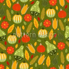 Harvest Time Of The Pumpkins Design Pattern Vector Pattern, Pattern Design, Starter Set, Harvest Time, Warm Colors, Surface Design, Pumpkins, Autumn, Patterns
