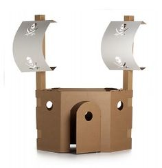 Childrens Cardboard Play Pirate structure.