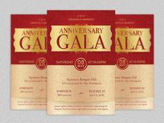 Anniversary Gala Flyer Template  Photoshop by Godserv on Etsy