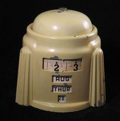 Kal Klok 4-in-1 Rotary Calendar Alarm Clock