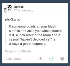 Who's Funeral....