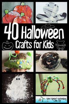 40 Halloween Crafts for Kids! All the crafts you'll need this Halloween!