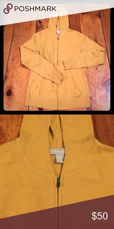 Great condition mustard color cashmere hoodie Great condition (worn once I think) zipper hoodie. Sooooo soft. No pilling at all. Hayden Sweaters Cardigans