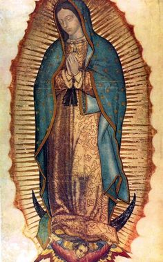 Today we celebrate Our Lady of Guadalupe -- one of my favorites Marian feast days. Our Lady of Guadalupe, patroness of the Americas, bri. Blessed Mother Mary, Blessed Virgin Mary, Religious Icons, Religious Art, Religious Paintings, Lady Guadalupe, Queen Of Heaven, Holy Mary, Catholic Art