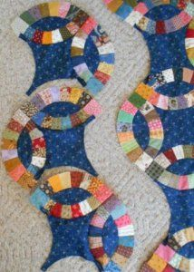 Interlocking Rings Tutorial | FaveQuilts.com color combination