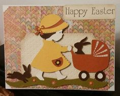 Cricut Kate's ABCs: girl pushing baby carriage with kittens