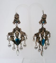 Vintage Ohrhänger - ✿ Vintage Chandelier 925er Sterlingsilber ✿ - ein Designerstück von Cafe-bijoux bei DaWanda