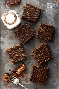So very, completely delicious! Rolo Cheesecake Bars