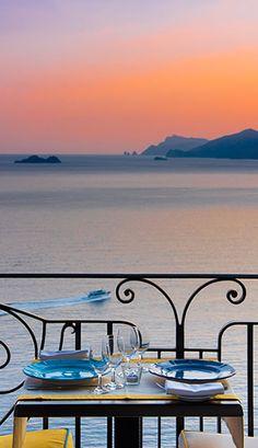 Tramonto d'Oro Restaurant - Praiano restaurant on the sea of Amalfi Coast Campania Salerno