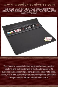 Elegant #Leather Desk Pad Organizer With Storage WAUCUST969G #freeshipping  #sale  http://woodartsuniverse.com/catalog/product_info.php?cPath=45&products_id=672