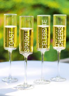 Holiday wish list: Contemporary Champagne Flutes