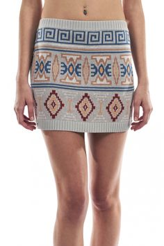 Joveeba - Navajo Knit Mini Skirt - Australian Designer Fashion - Ladies Fashion Online at Style Palace