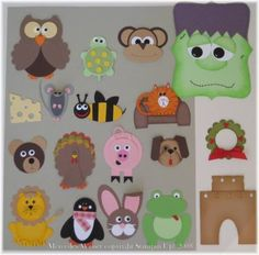 Make finger puppets out of these Punchart by adhering them to recycled toilet paper rolls