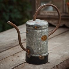 Galvanized Rustic Metal Watering Can