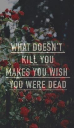 What doesn't kill you makes you wish you were dead.