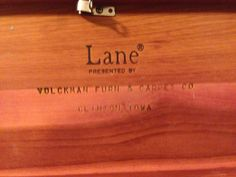 Lane Minature Cedar Chest Jewelry Chest Tinket Box