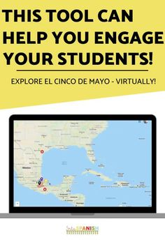 Need some ideas for Cinco de Mayo in your classroom? Check out these lesson plans and activities to help teach your classes the history of Cinco de Mayo in Mexico and the United States! Digital resources like websites, videos, Edpuzzles, virtual activities, interactive maps, Boom cards, and more make it easy to teach about Cinco de Mayo with no prep! Great sub plans too! Spanish 1, Spanish Class, Middle School Spanish, Spanish Lesson Plans, Interactive Map, Help Teaching, Belize, Alabama, Nashville