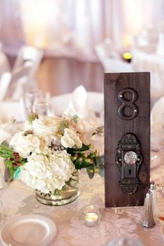 Door Inspired Table Numbers /// A Vintage Affair Events & Rentals