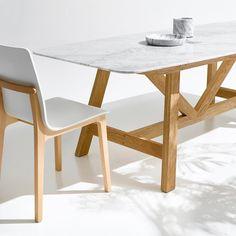 Table plateau marbre Buondi, design E. Gallina AM.PM