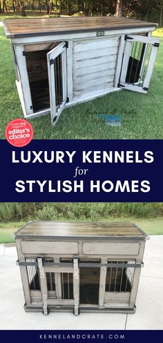 Luxury Dog Kennels Indoor dog kennels- husky, small, short, or tall. The perfect crate for your canine Large Dogs, Small Dogs, Luxury Dog Kennels, Dog Furniture, Urban Farmhouse, Dog Hacks, Dog Crate, Dog Behavior, Dog Owners
