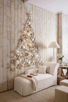 Rincón coqueto y relajante donde el árbol Navideño tiene cabida como.parte de la decoración a tonos❇❇❇ Idea Super Genial!!!!
