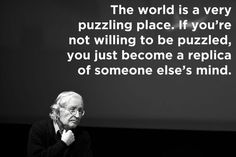 be puzzled