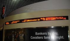 An Electronic LED ticker display is a great way to attract attention while communicating useful.