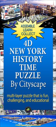 The New York Puzzle is a jigsaw puzzle that is not only fun but also challenging and to top that off it's also educational. Difficult Jigsaw Puzzles, 3d Jigsaw Puzzles, Hobbies For Couples, Yep Yep, Hobby Ideas, Thomas Kinkade, Fun Challenges, Geography, Madness
