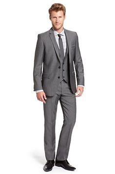 Slim Fit Virgin Wool 'Alimo/Wiron/Heise' Three-Piece Suit by HUGO