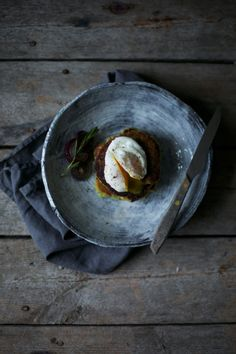 _Our food stories_: gluten free pancakes with poached egg and avocado