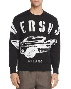 418761b777317 Versus Versace Car Logo Crewneck Sweatshirt Men - Hoodies & Sweatshirts -  Bloomingdale's
