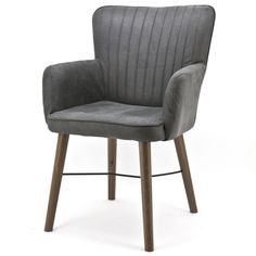 Stuhl CHIBA mit Armlehne Küchenstuhl Esszimmerstuhl Esszimmer Polsterstuhl Stoff  | eBay